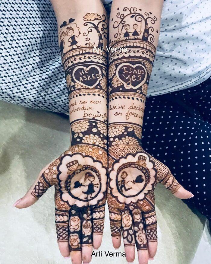 engagement ring mehndi design