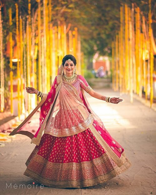 An Epiphany From Real Brides Wearing Double Dupatta Lehnga to Exalt Your Nuptial Look!