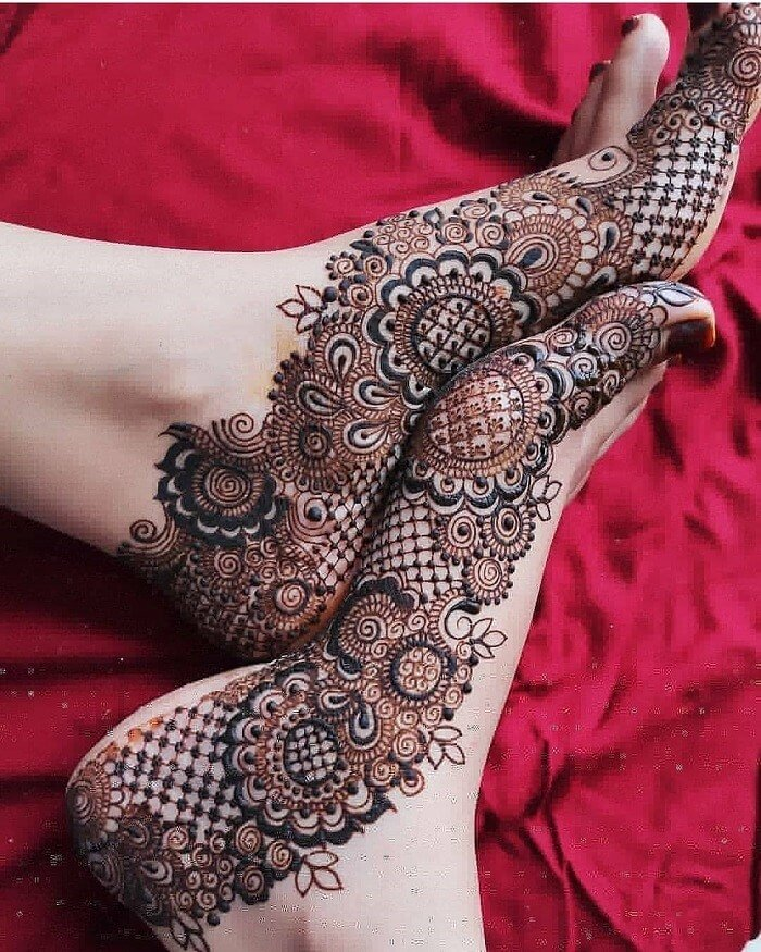 Floral Pattern Henna Design
