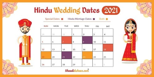 Auspicious Wedding Dates in 2021: See, Fix and  Plan Yo...