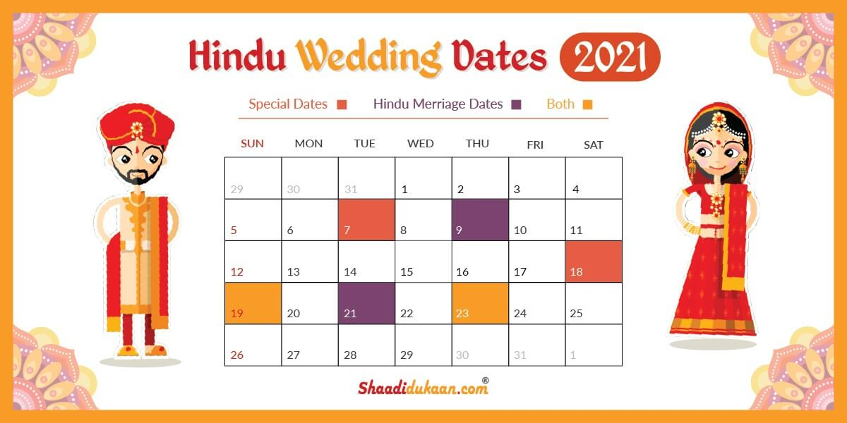 2021 Hindu Calendar Auspicious Wedding Dates in 2021: See, Fix and Plan Your Wedding