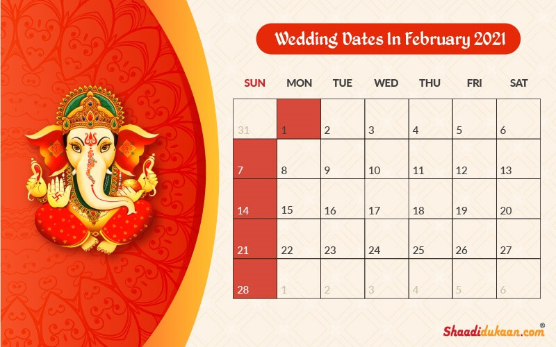 Auspicious Wedding Dates in 2021: See, Fix and Plan Your Wedding