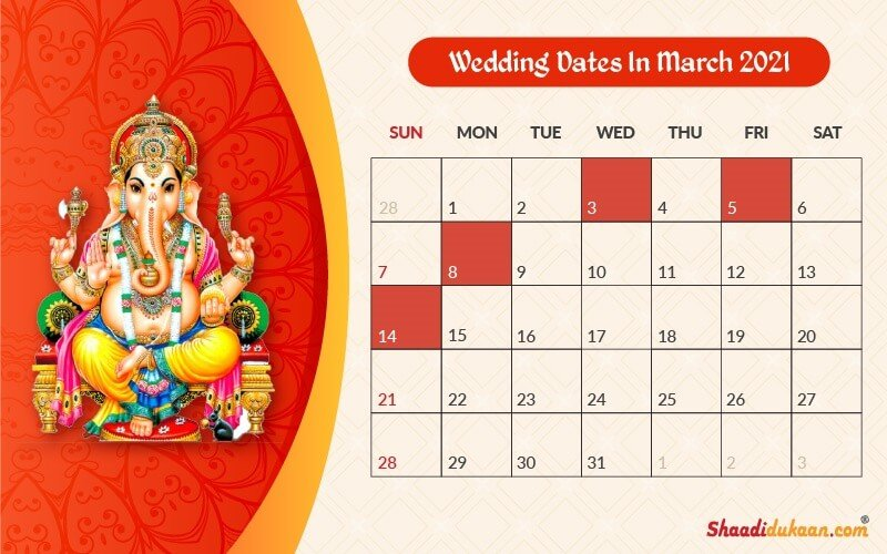 Auspicious Wedding Dates In 2021 See Fix And Plan Your Wedding