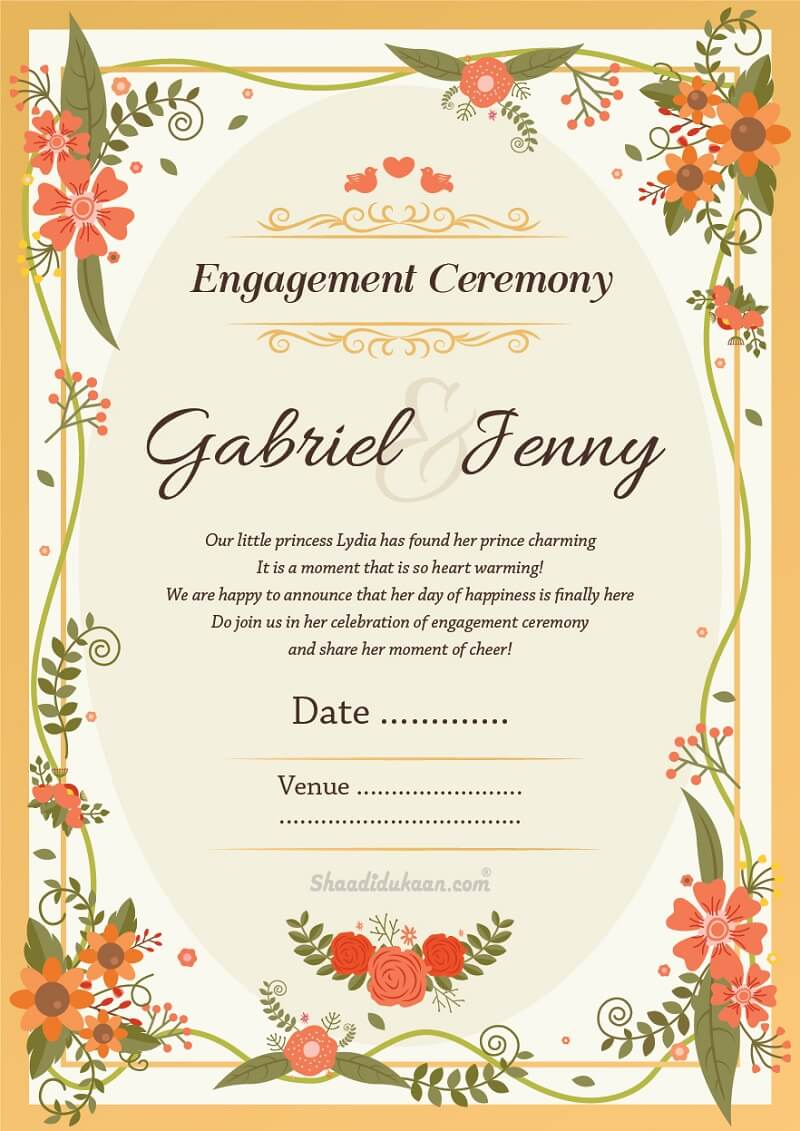 51 Amusing Engagement Invitation Wordings - Invite Quotes & Messages