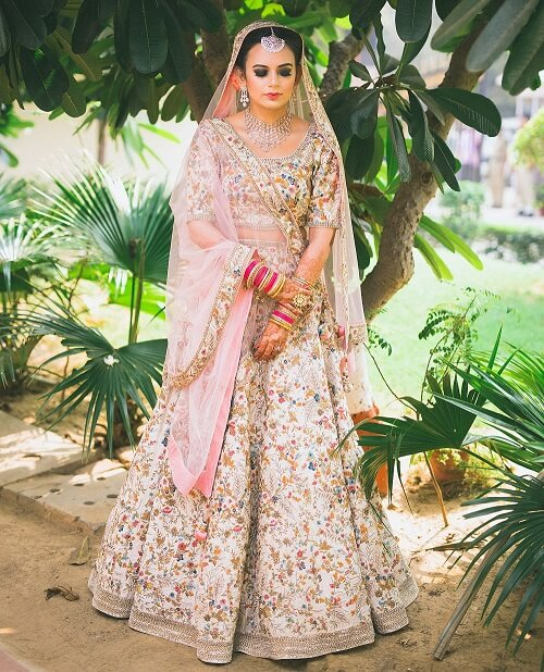 Opulent Real Brides in Pastel Colour Lehngas to Inspire You for Your D-Day Outfit!