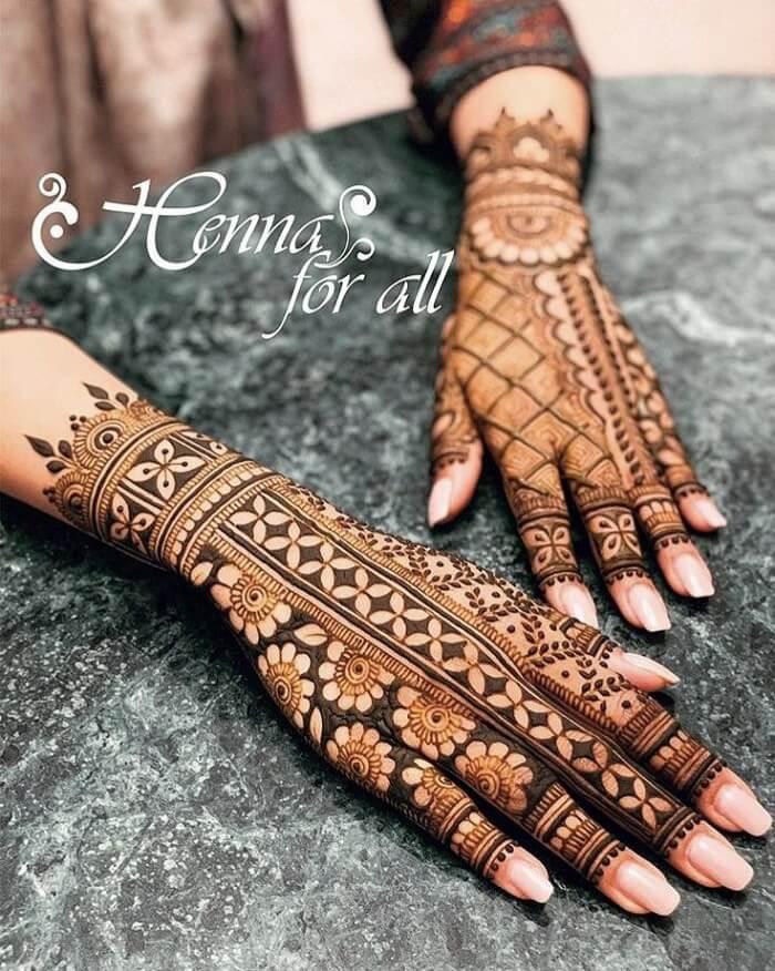 Vertical Pattern Henna Art