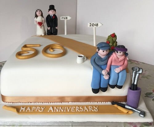 Some Of The Most Beautiful Wedding Anniversary Cakes To...