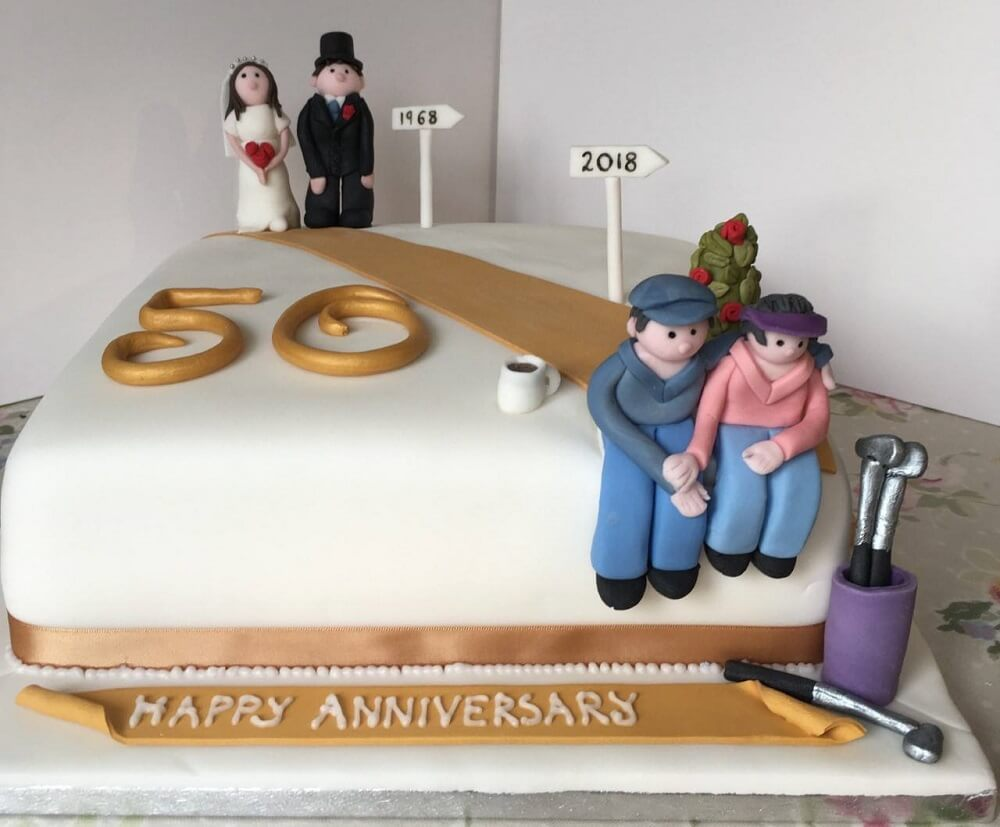 Some Of The Most Beautiful Wedding Anniversary Cakes To Surprise Your Spouse With
