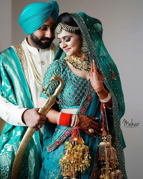9 Magnificent Bridal Lehnga Colours for Swaggy Sikh Bri...