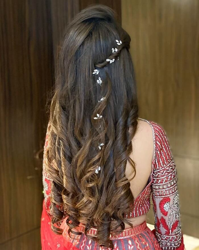 Engagement Hairstyles for Indian Brides - Don't Miss These All