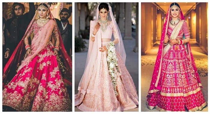 All The Latest and Bestest Bridal Pink Lehengas You Wan...