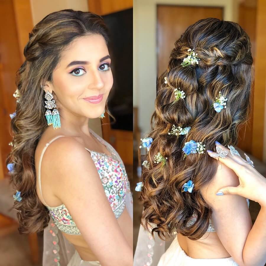 Engagement Indian Hairstyles for Going-To-Be Brides: Don't Miss These All