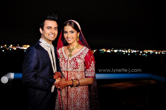 Charming Night Indian Wedding Photos Of Brides And Grooms And Decor
