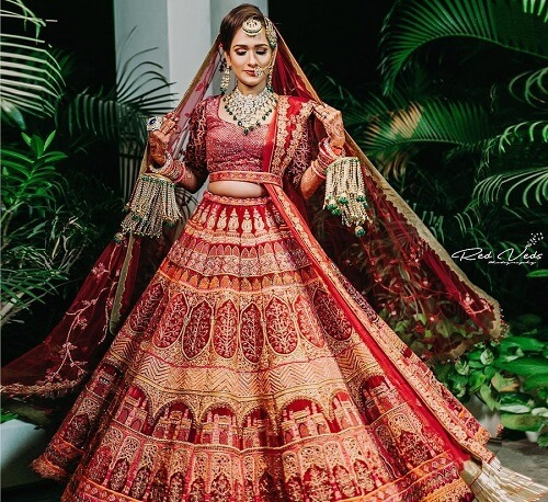 10 Stunning Red Bridal Lehengas To Have Perfect Look at...