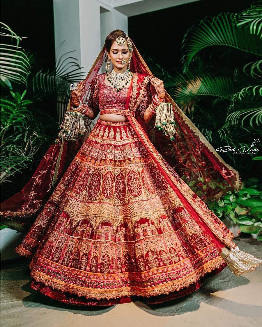 10 Stunning Red Bridal Lehengas To Have Perfect Look at Your Wedding!