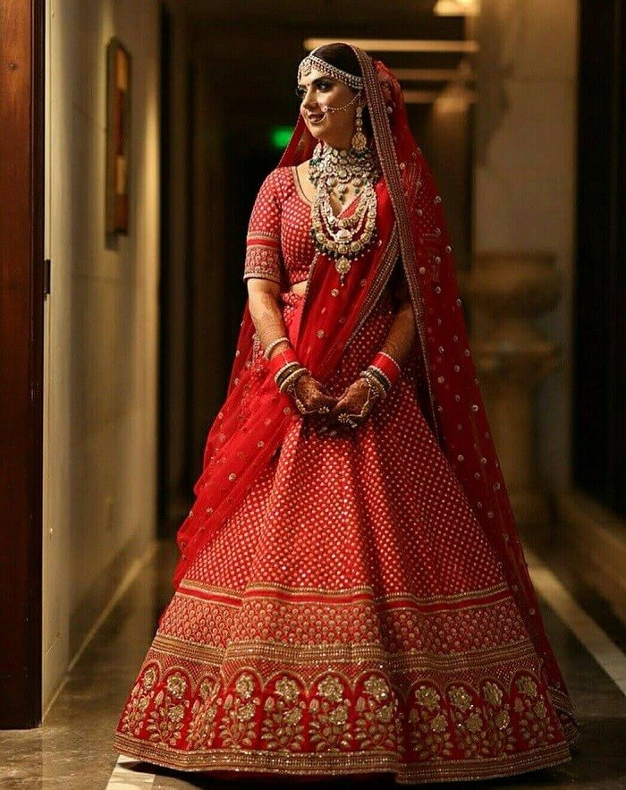 10 Stunning Red Bridal Lehengas To Have Perfect Look At Your Wedding