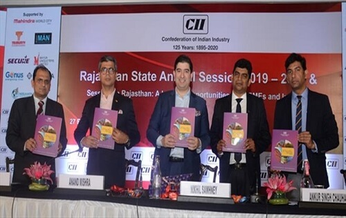 Celebrating 125 years of CII A session on Rajasthan: A land of opportunity for MSME AND Industry organized in Jaipur