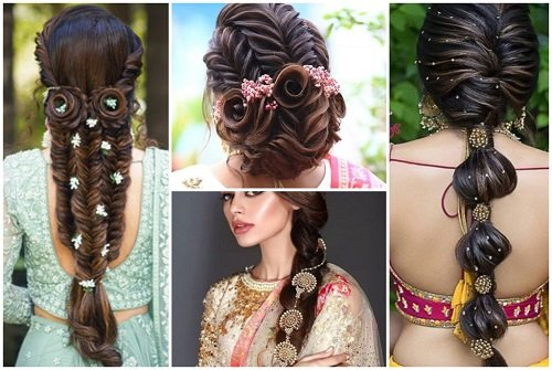 20+ Bridal Hairstyles For Mehndi and Sangeet Function Y...