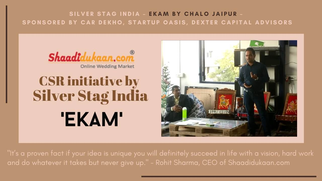 "Prism Of Possibilities Edition 1.0: An Inspirational And Motivational Initiative By ""Chalo Jaipur"" - Shaadidukaan.com's CSR initiative Silver Stag India – Ekam"