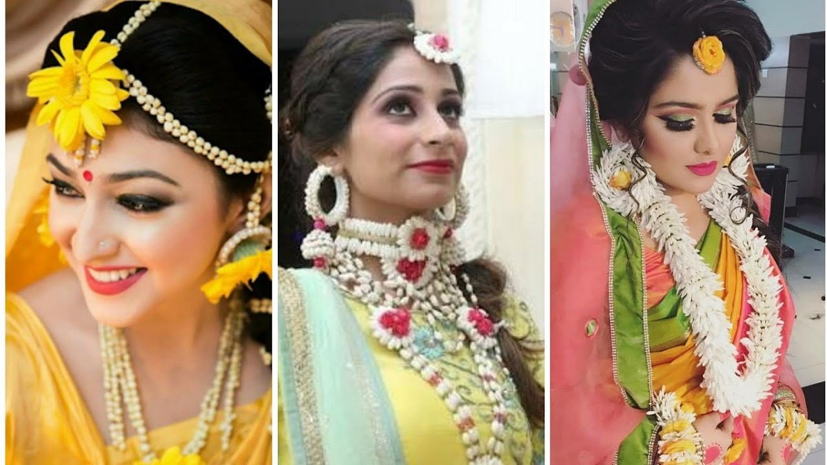 Stunning Flower Jewellery For Haldi & Mehndi Ceremony To Make You Look Like A Diva At Your Pre Nuptials!