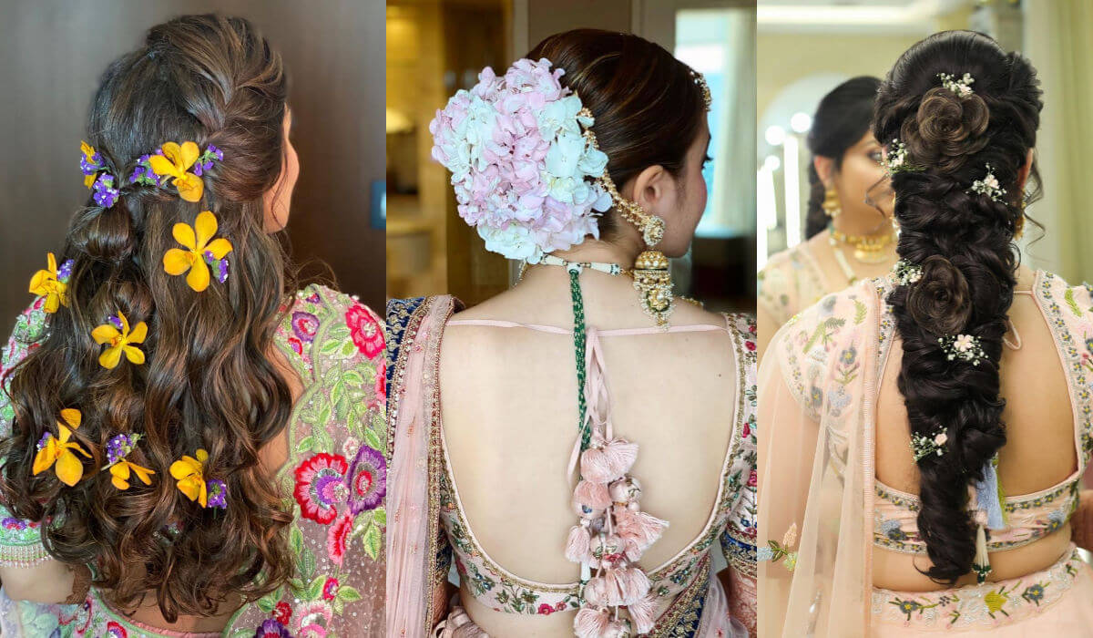 Indian Bridal Hairstyles For Reception That Quintessential The Mingling Of Style And Traditions