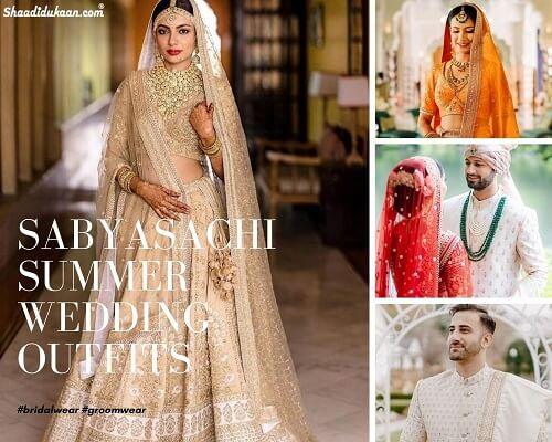 Grab Some Major Summer Wedding Outfit Inspo From Sabyasachi Brides & Grooms of 2020!