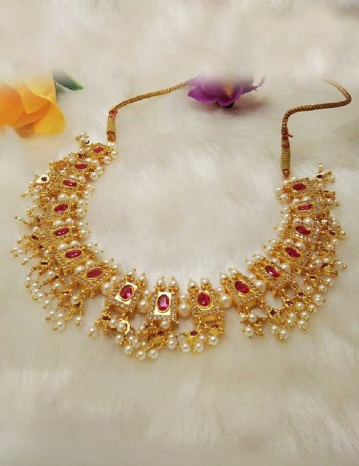 Stunning Bridal Gold Necklace Designs