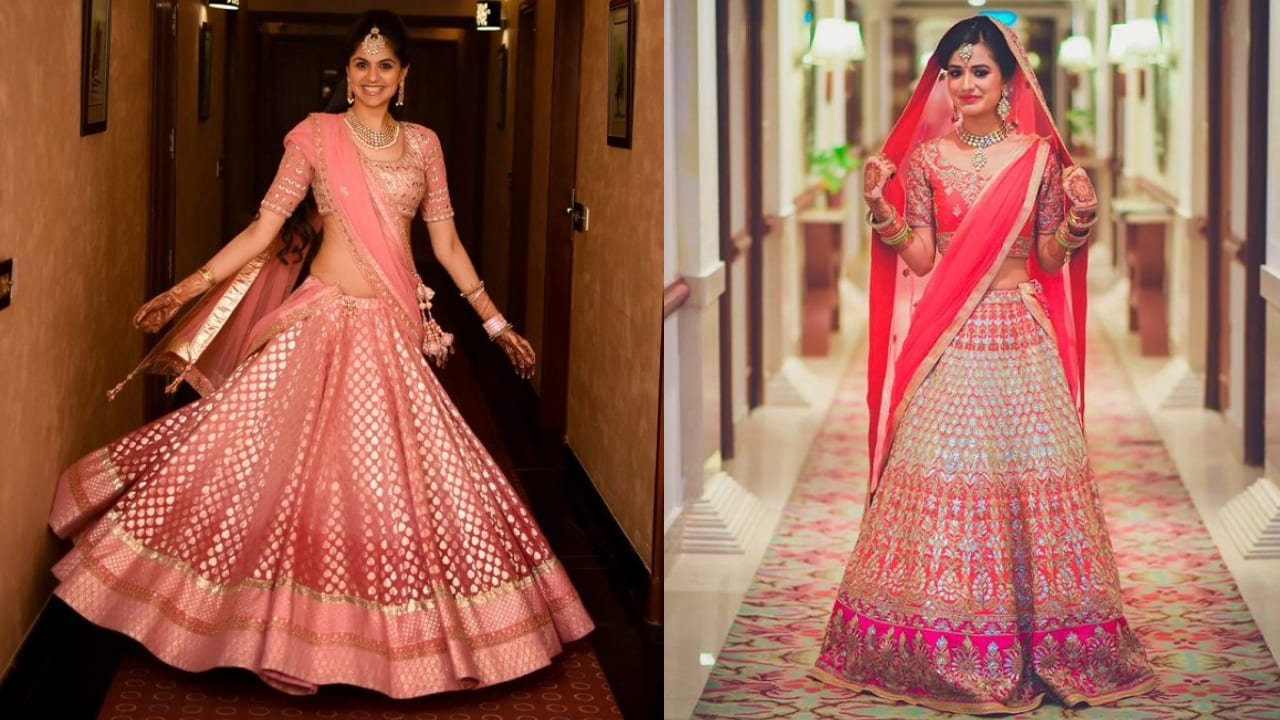 30 Pretty Ombre Bridal Lehengas Perfect For The Crimson...