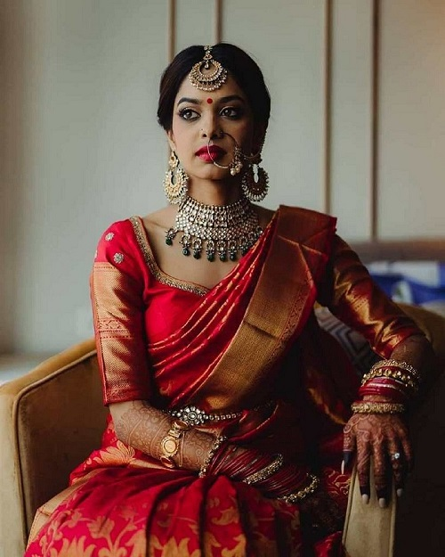 30+ Bridal Kanjivaram Sarees For Traditional Yet Modern Indian Brides To Take Inspiration From!