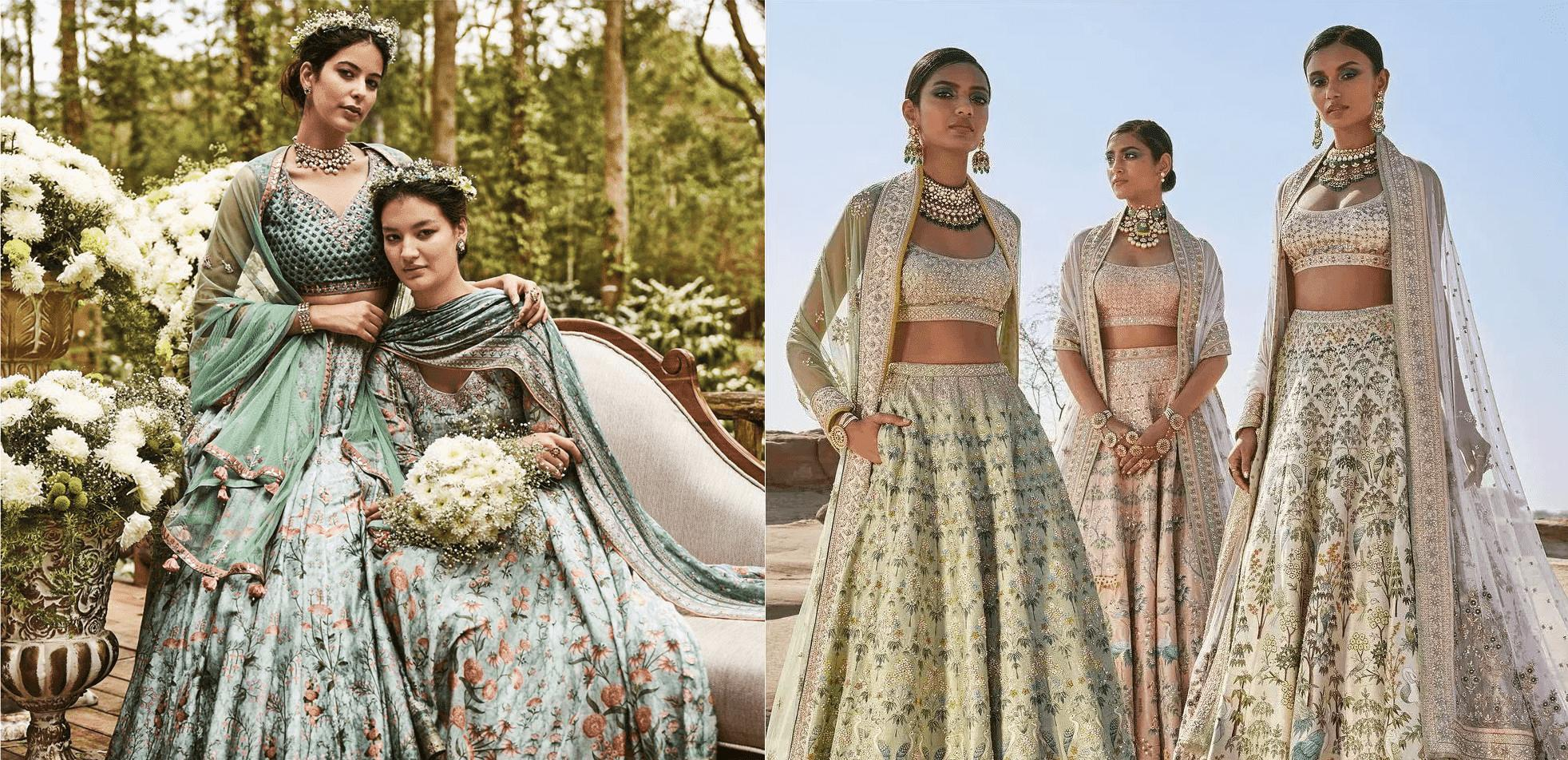 11+ Inspirational Floral Lehenga Designs For Bride