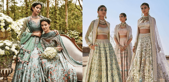 11+ Inspirational Floral Lehenga Designs For Bride