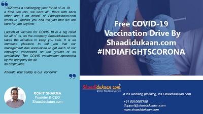 Free COVID-19 Vaccination Drive By Shaadidukaan.com #INDIAFIGHTSCORONA