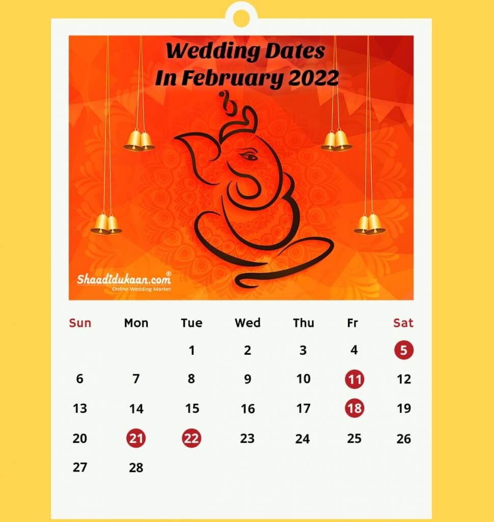 2022 Bowhunter Calendar.Auspicious Hindu Wedding Dates In 2022 Fix And Book Verified Vendors
