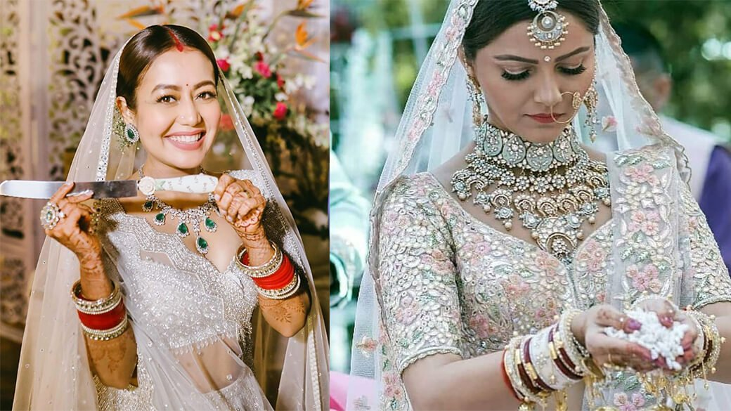 We Spotted Stunning White Designer Bridal Lehenga As Pr...