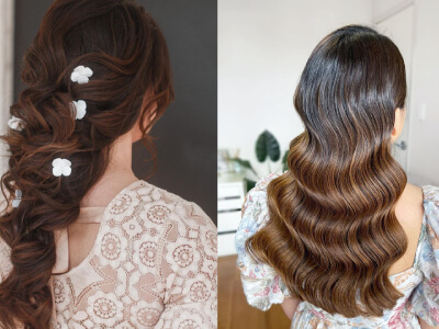 10 Classy Curly Hairstyles for Wedding